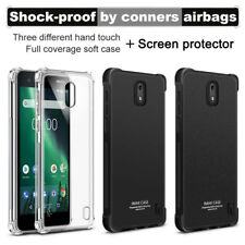 For Nokia 2 IMAK Shockproof Soft Silicone Back Cover Skin Case+ Screen Protector