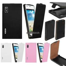New Synthetic Leather Flip Skin Case Cover For LG Optimus L5 E610 E612 RLWH