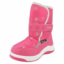 Girls Reflex H4069 Pink Nylon & Synthetic Warm Lined Snow Boots