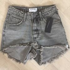 NWT One Teaspoon Bonitas Shorts Jeans 22 24 25 26 27 28 29 Distressed High Gray