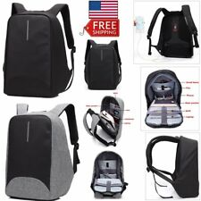 """15"""" Laptop Backpack School Rucksack Outdoor Notebook Bag With USB Charge Port"""