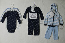 NEW CARTERS BOYS 3 OR 4 PIECE LITTLE LAYETTE SET VARIOUS SIZES STYLES ELEPHANT