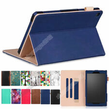 PU Leather Stand Flip Case Cover Skin For Amazon Kindle Fire HD 8 2016 2017+Film