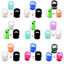 3Pair/lot Thin Silicone Ear Skin Flexible Flesh Tunnels Plugs Ear Gauges Earlets