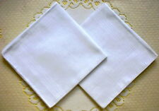 12 Pieces / 6 Pieces 33cm x 33cm Classic White Color 100% Cotton Handkerchiefs