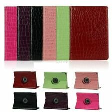 Crocodile Embossed 360° Rotating PU leather Case Protective Cover iPad 2017 9.7