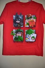 LEGO BATMAN/ROBIN/VILLAINS/BATMAN MOVIE-BOYS 4 & 5/6-LICENSED SHORT SLEEVE-NWT