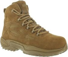 """Reebok Men's Stealth 6"""" Rapid Response RB Coyote Boots W/ Side Zipper - RB8650"""