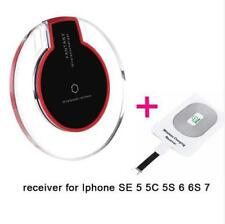 Qi wireless charger pad  with receiver iphone