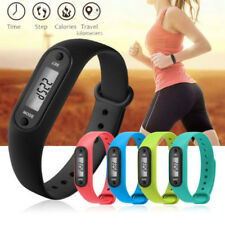 Digital Pedometer Watch Step Run Walking LCD Distance Calorie Counter Watch Band