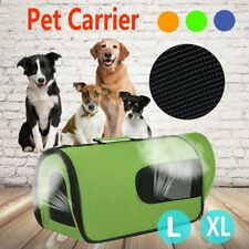 Pet Soft Crate Portable Dog Cat Carrier Travel Cage Kennel Folding Large L/XL O5