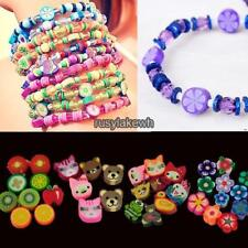 100 PCS Clay Beads DIY Slices Mixed Color Fimo Polymer Clay RLWH01 01