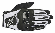 ALPINESTARS SMX-1 AIR Leather/Mesh Motorcycle Gloves (Black/White) Choose Size