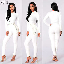 Women's Stretch Casual Slim Fit Skinny Pants High Waist Pencil Jeans Trousers