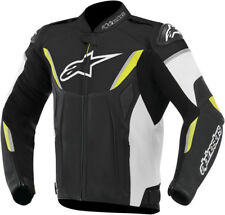 ALPINESTARS GP-R Perforated Leather Motorcycle Jacket (Blk/Wht/Yllw) Choose Size