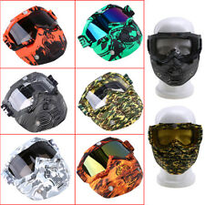 Multi-Colored Removable Mask Motorcycle Offroad ATV Racing Goggles Windproof