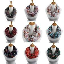Women Owl Winter Warm Infinity Circle Cable Knit Cowl Neck Long Scarf Wrap Shawl