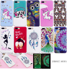 Ultra Slim Pattern Soft TPU Silicone Back Case Cover For Apple iPhone X 7 8 plus