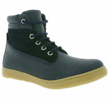 NEW Giggs High Top Children Real Leather Sneaker Boat Ankle Boots Blue 125493