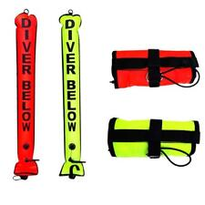 Perfeclan 4FT Scuba Diving SMB Safety Sausage Signal Tube/Surface Marker Buoy