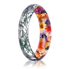Clear Real Natural Dried Flowers Bracelet Bangle Women Lady Fashion Jewelry Gift