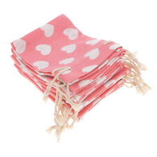 10Pcs Linen Drawstring Bag Jewelry Pouches Xmas Wedding Favors Candy Gift Bags