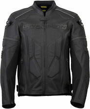 Scorpion Men's CLUTCH Leather Motorcycle Sport Riding Jacket (Phantom Black)