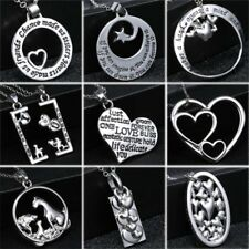 Stainless Steel Mother's Day Gift Family Engraved Letters Love Pendant Necklace