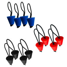 Perfeclan 4pcs Silicone Kayak Boat Scupper Stopper Bungs Drain Holes Plugs