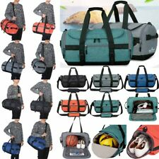 Mens LARGE Sports Bag Shoulder Strap Gym Travel Handbag Luggage Tote Waterproof