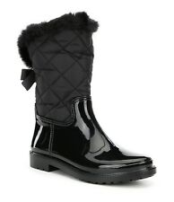 KATE SPADE New York REID Quilted Nylon / Rubber Combo Boots BLACK 9 NIB ($178)