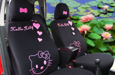 10 PCs Hello Kitty Black Car Seat Covers Front Rear Cover Accessory Set