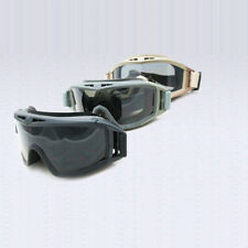 Airsoft CS Wind Fog Dust Proof Tactical Goggle Paintball Glasses With 3 Lens ZB