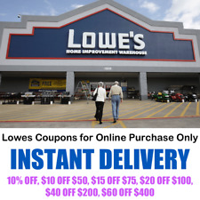 Lowes Coupons - Online Purchase Only - INSTANT