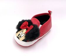 Baby Disney Minnie Mouse Crib Shoes Red Minnie Ears  Licensed 3-6M 6-9M 9-12M