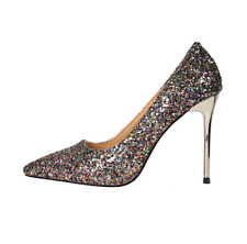 Women pumps glitter high heels shoes comfortable party wedding office Shoes