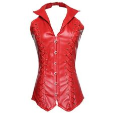 verbust Gothic Steampunk Faux Leather Steel Boned Corset Vest Plus Size Corset
