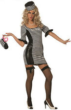 Sexy jailbabe Convict Costume NEW - Ladies Carnival Fancy Dress