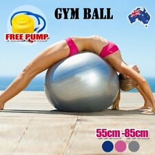 Anti Burst Swiss Yoga Ball   Home Gym Fitness Pilates Exercise Balance w/ Pump 7