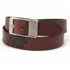 North Carolina Tarheels UNC Branded Brown Leather Belt