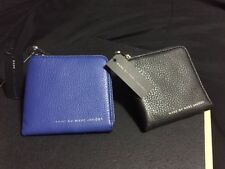 NWT $158 Marc By Marc Jacobs Half Zip Card Holder Wallet Coin Pouch Black & Blue