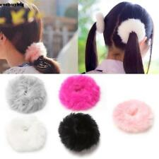 Fashion Fluffy Faux Fur Furry Scrunchie Elastic Hair Ring Rope Band EE6