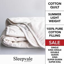 Cotton Summer Quilt SINGLE DOUBLE QUEEN KING SUPER KING