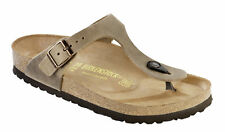 Birkenstock Gizeh Nubuck Leather Oiled Womens Shoes Slides Sandals footbed - NEW