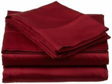 Burgundy Solid All AU Size BEST BEDDING COLLECTION 100% Egyptian Cotton 800 TC