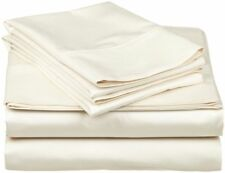 Ivory Solid All AU Size BEST BEDDING COLLECTION 100% Egyptian Cotton 800 TC
