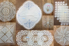 VINTAGE VARIATIONS:  Table Doily or Dresser Sets Crochet & Embroidery Needlework