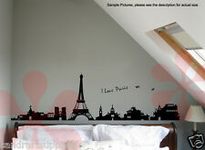 Instant Decoration Wall Sticker Decal Wall Decor Paris Eiffel Tower (Set of 2)