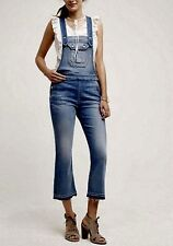 ANTHROPOLOGIE 7 For all Mankind Cropped Boot Overalls NwT M made in USA
