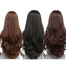 Women Fashion Long Curly Hair Wavy Natural Synthetic Full Wig Cosplay Party 70CM